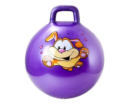 Мяч гимн. игровой с ручкой 45 см. 8023 violet