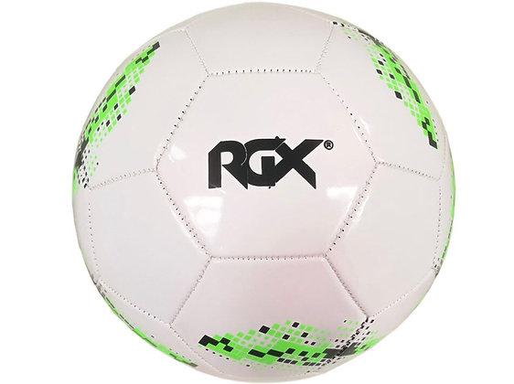 Мяч футбольный RGX бело-зелёный