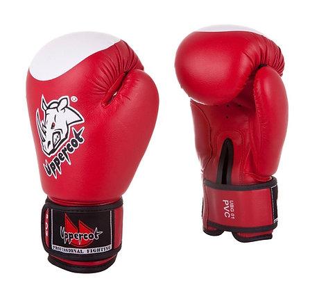 Перчатки боксёрские Uppercot 01 PVC red