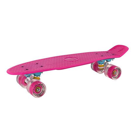 Мини-круизер 01GW Pink светящиеся колеса