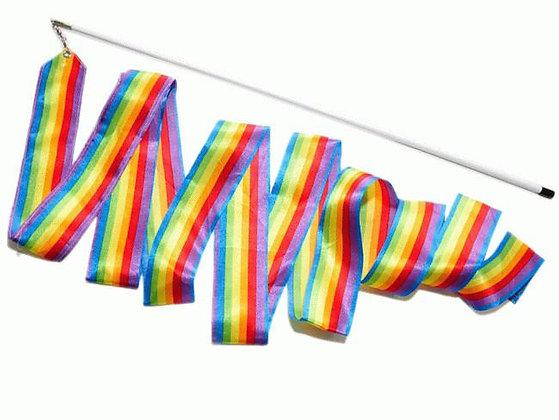 Лента гимнастическая радуга