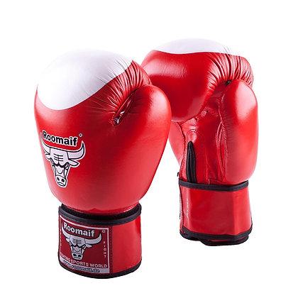 Перчатки боксёрские Roomaif 100 кожа red