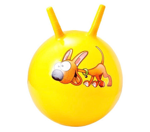 Мяч гимн. Alpha Caprice с двумя ручками 70 см. желтый
