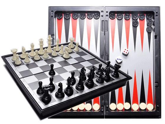 """Игра магнитная """"3 в 1"""" (шахматы, шашки, нарды)"""