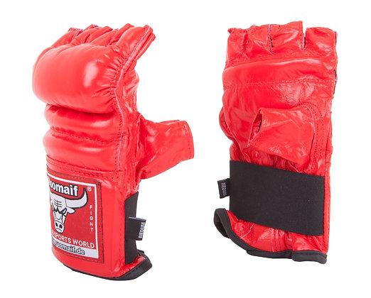 Перчатки для единоборств Roomaif MMA кожа red RBM-124