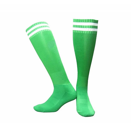 Гетры T-star зелёные с белыми полосами