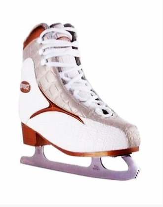 Коньки ICE SKATE gold/white