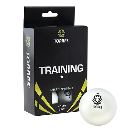 Шарик для н/т 6 шт. бел. Torres Training 1*
