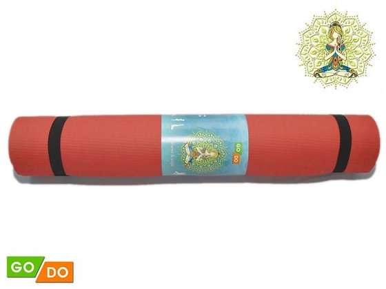 Коврик для йоги и фитнеса Go Do 173*61*0,4см (5 цветов)