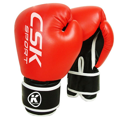 Перчатки боксёрские GX9183 красно-чёрные 10 oz
