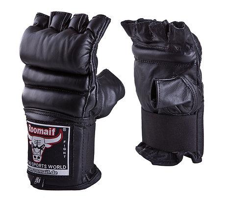 Перчатки для единоборств Roomaif MMA кожа black RBM-124