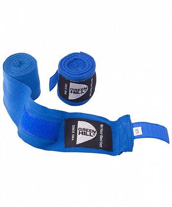 Бинт боксёрский GREEN HILL лайкра синий 2,5 м