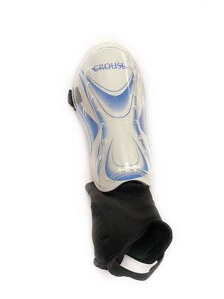 Щитки футбольные Crouse бело-голубые