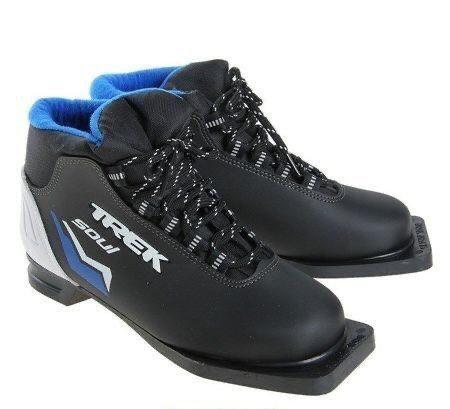 Ботинки лыжные Trek Soul ИК (черный,лого синий)