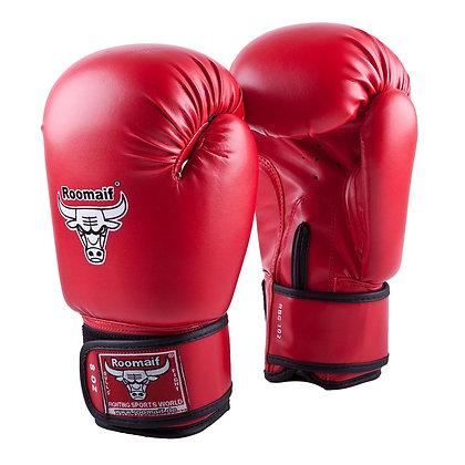 Перчатки боксёрские Roomaif 102 кожа red