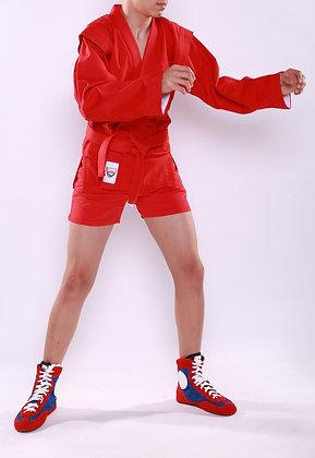 Куртка-самбо SAPSAN красная с подкладом К-5