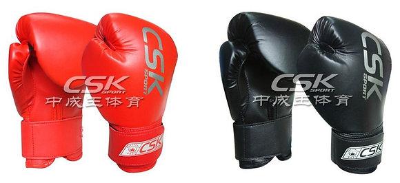 Перчатки бок. CSK крас. и чёрные 9109
