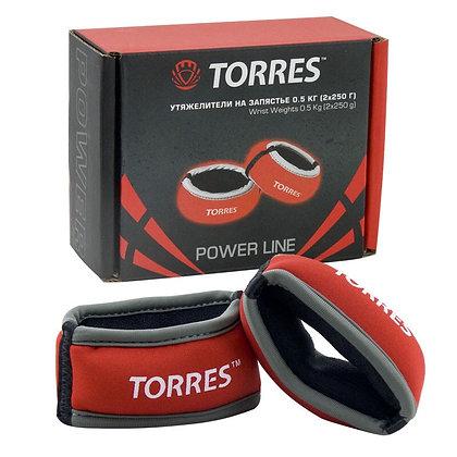 Утяжелитель TORRES на запястье 0,5 кг.
