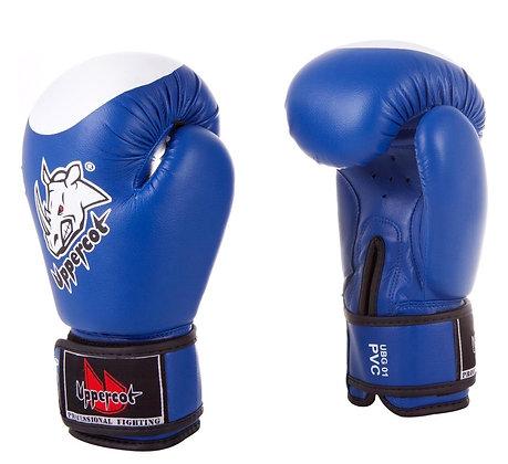 Перчатки боксёрские Uppercot 01 PVC blue