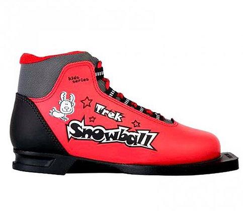 Ботинки лыж. TREK SNOWBALL красно-чёрные