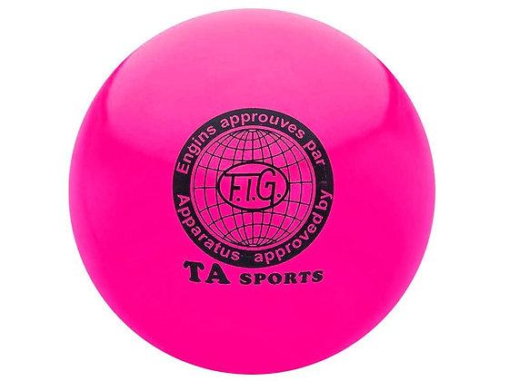 Мяч для худ. гимнастики FIG, d.15 см, pink