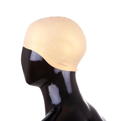 Шапочка для плавания силикон SCN бежевый (горчич)