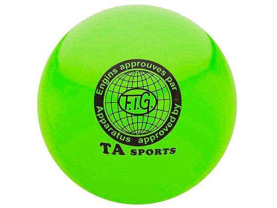 Мяч для худ. гимнастики FIG, d.15 см, green