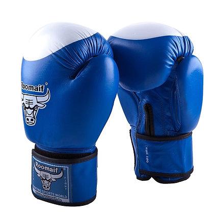 Перчатки боксёрские Roomaif 100 кожа blue