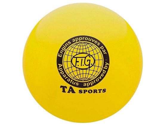 Мяч для худ. гимнастики FIG, d.15 см, yellow