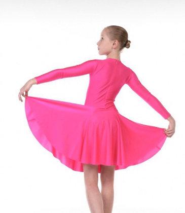 Платье рейтинговое с юбкой «солнце» 7842