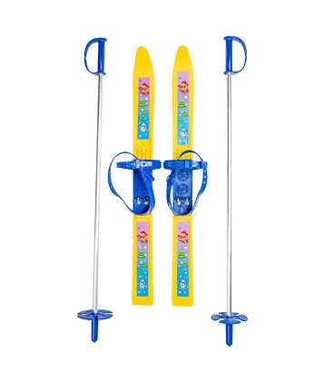 Лыжи детские Олимпик с палками 65 см.