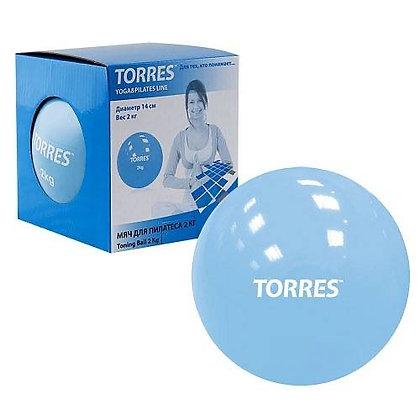 Мяч для пилатеса Torres 2 кг.