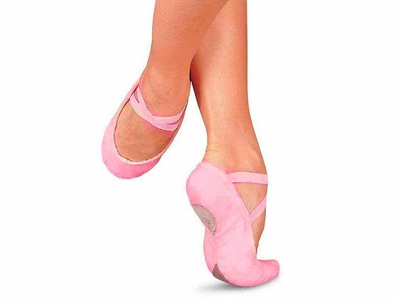 Балетки (ткань + кожа), цвет розовый