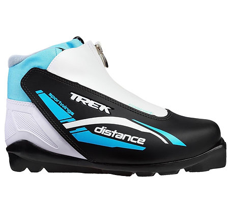 Ботинки лыж. TREK DISTANCE COMFORT SNS ИК черно-голубые