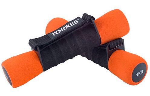 Гантели 1 кг Torres 6004 (2 шт в наборе)
