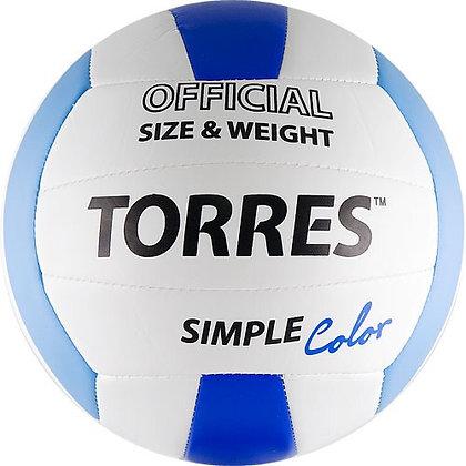 Мяч волейбольный TORRES SIMPLE COLOR
