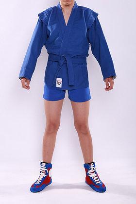 Куртка самбо SAPSAN синяя с подкладом К-51