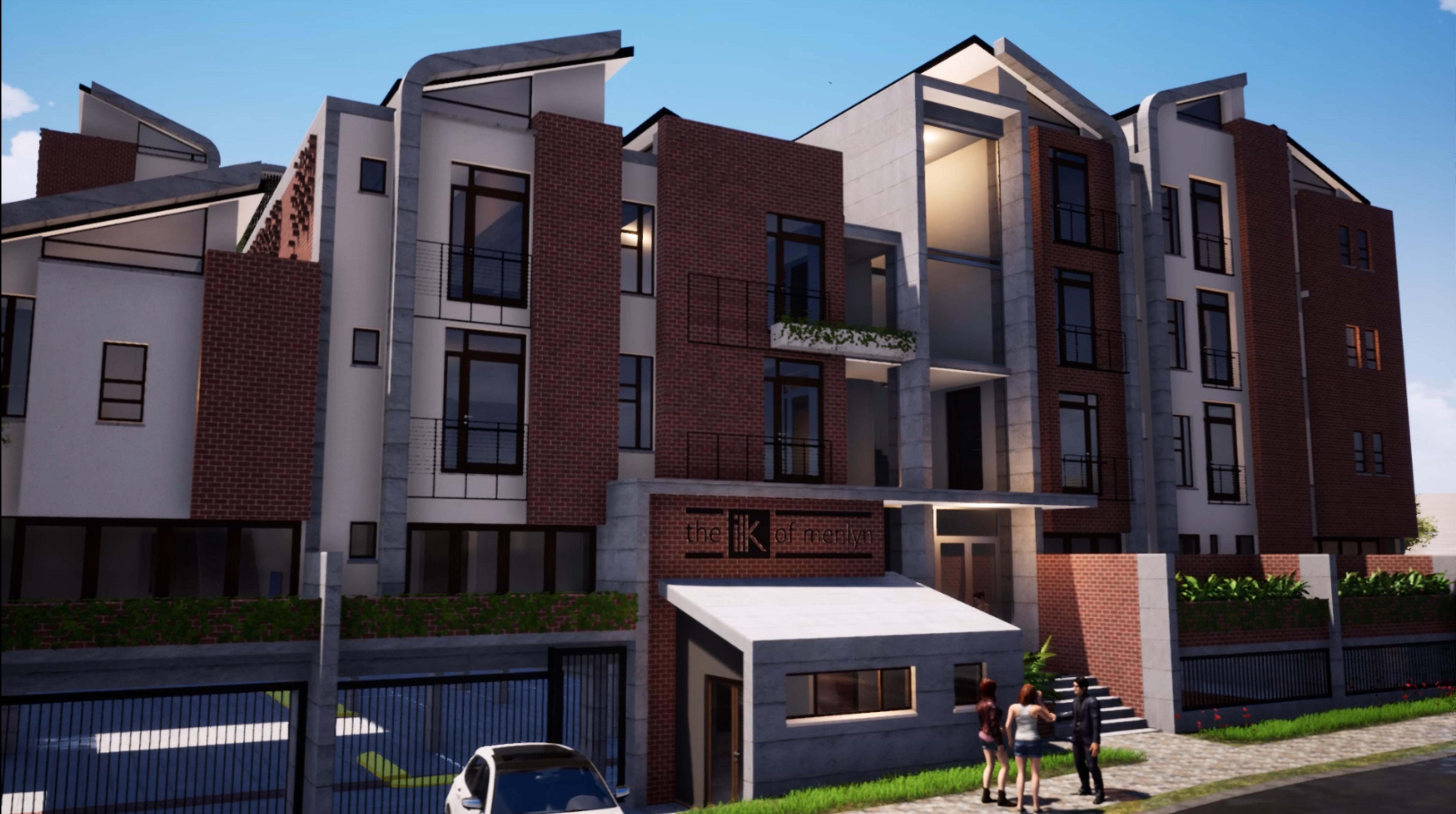 Ilk render apartment block design develo