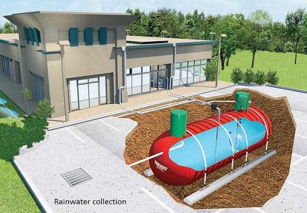 Fiberglass Rainwater Collection Tank