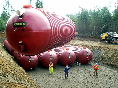 Underground fiberglass Tanks