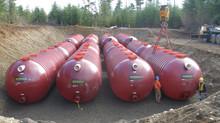 How much does an underground fiberglass tank cost?