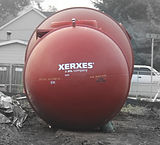 10,000 gallon Fiberglass Fire Protection Tank