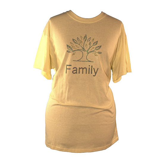 Family Tree Adult Crew Neck Short Sleeve T-Shirt