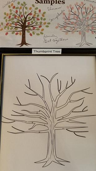Acid Free Cardstock Thumbprint Tree