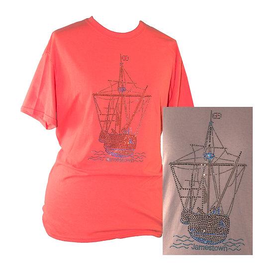 Bling Jamestown Adult Crew Neck Short Sleeve T-shirt