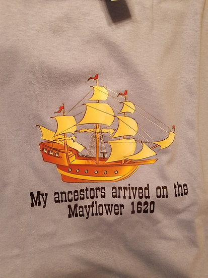 Mayflower 1620 Adult Crew Neck Short Sleeve T-shirt