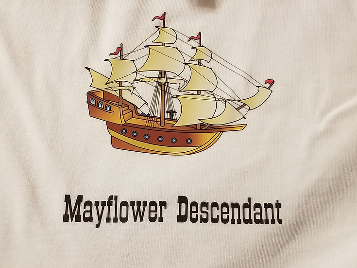 Infant Onesie or Toddler/Youth Mayflower 1620 Crew Neck Short Sleeve T-shirt