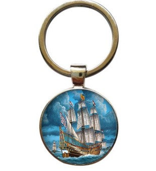 Ship Keyring Perfect for all pre-1900 including Mayflower and Jamestown