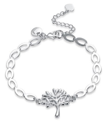 Sterling Silver Bracelet with Tree