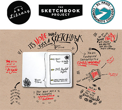 Students needed to participate in the Sketchbook Project